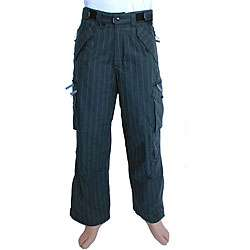 Pulse Mens Black Pinstripe Snowboard Pants