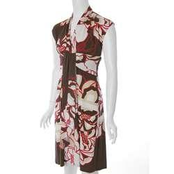Sangria Womens Floral Print V neck Dress  Overstock