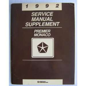 Manual Supplement (Premier / Monaco) Chrysler Corporation Books