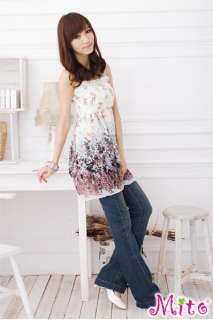 Hippie Exotic Summer Floral Print Chiffon Dress #67 2 Color