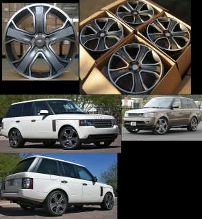 22 WHEELS SET FOR RANGE LAND ROVER HSE LR3 SUPER CHARGER RIMS NEW IN