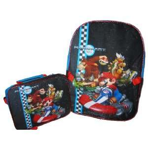 NINTENDO SUPER MARIO Mariokart Wii Large Backpack Bag with