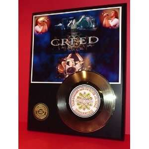 Creed 24kt Gold Record LTD Edition Display ***FREE PRIORITY SHIPPING