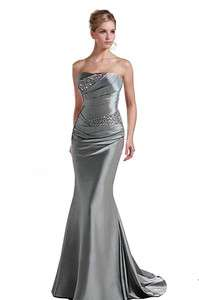 Formal Bridesmaid Pageant Evening Wedding Ball Prom Party Dress Gown