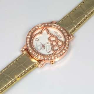 7pcs HelloKitty Lady Girl Crystal Quartz Jewelry Wristwatch Party gift
