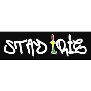 Stay Irie Rastafari One Love Rasta Vinyl Decal Sticker