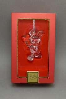 Lenox Crystal Disney Mickey Mouse Christmas Ornament