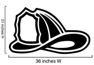 Vinyl Wall Decal Sticker Firefighter Helmet 21x36