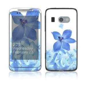 HTC Surround Skin Decal Sticker   Blue Neon Flower