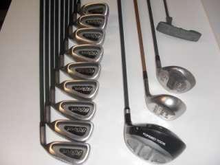 Graphite Mens Complete Right Hand Golf Club Set + Bag + Cobra Drivers