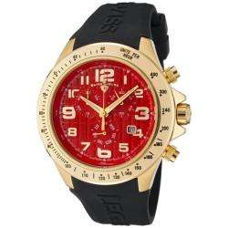 Swiss Legend Mens Eograph Red Dial Black Rubber Chronograph Watch