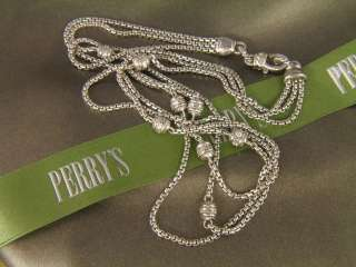 Judith Ripka Sterling Silver Three Chains CZ Necklace