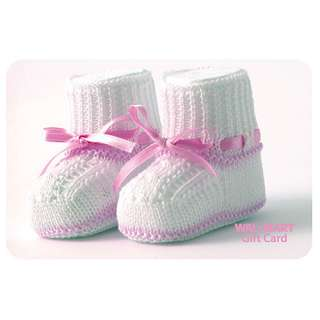 Pink Baby Booties Gift Card Gift Cards