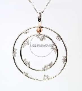 Damiani 18K White Gold & Diamond Double Circle Necklace