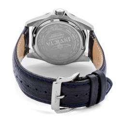 Invicta Mens Pro Diver Dark Navy Blue Genuine Leather Watch