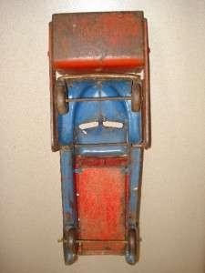 vintage hubley blue die cast log truck