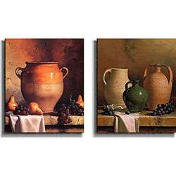 Loran Speck Jugs and Jars Canvas Art 2 piece Set