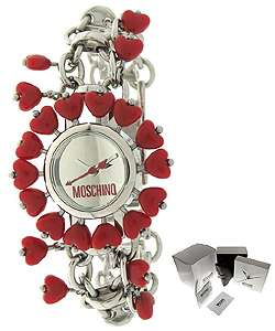 Moschino Jelly Heart Red Heart Accent Watch