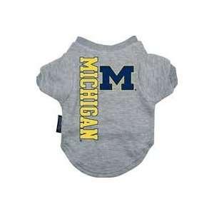 Michigan Wolverines College Pet T Shirt, Medium, Color