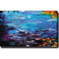 Abstract Lake Impression Giclee Print Canvas Art