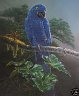Art animal oil paintingSmall bird on canvas 24x36inch