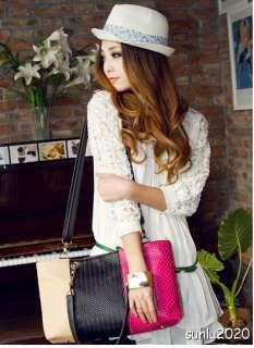 Colorful Designer Ladies Womens Pu Leather Bag Shoulder Handbag