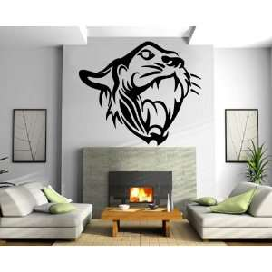 Tiger Head Roar Tribal Animal Design Wall Mural Vinyl