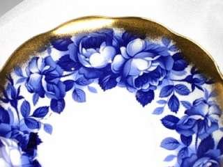 Royal Albert COBALT BLUE ROSES TREASURE CHEST SERIES Tea Cup and
