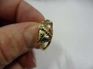 Ladies 10Kt Black Hills Gold Leaf Ring Size 7.75