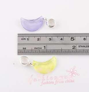 Lot 50 Pcs Beautiful Moon plastic Charm Beads Fit Bracelet 1