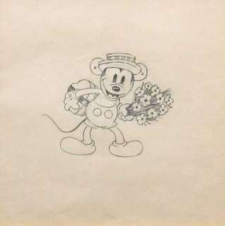 1933 MICKEY MOUSE PUPPY LOVE ORIGINAL DRAWING CEL