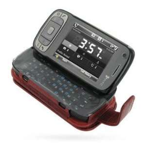 PDair Red Crocodile Pattern Leather Flip Style Case HTC