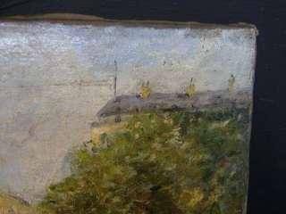 RIVER SEINE, PARIS   FRENCH IMPRESSIONIST OIL   CIRCA 1900