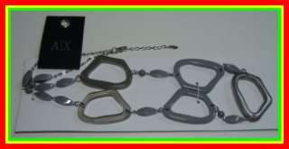 SOPHISTICATED GRAY/SILVER CHAIN NECKLACE WOMENS/LADIES