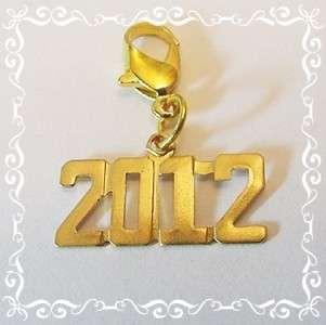 2012** Graduation*Senior*High School*Year*Gold*Charm