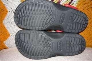 10   11 Crocs Disney Large Black Mickey Mouse Clogs Shoes