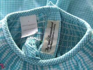 AMANDA REMEMBERED Smocked Gingham Snail Bishop Dress ~ Size 4