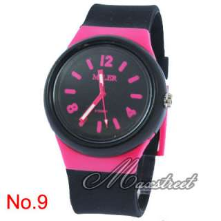 Womens Silicone Quartz Wrist Watch Multicolor Detachable Band