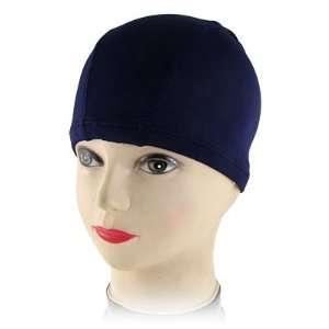 Como Women Man Stretchy Dome Shape Swimming Cap Hat Dark