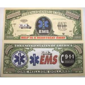 Set of 10 Bills EMS Million Dollar Bill Toys & Games