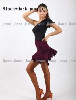 New latin salsa tango chacha ballroom dance dress top + skirt dance