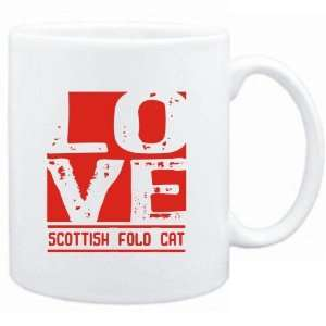 Mug White  LOVE Scottish Fold  Cats