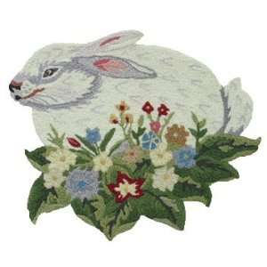 Bunny Rabbit home art decor woven kitchen area rug throw