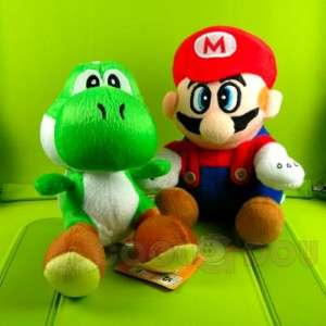 New Super Mario Bros Yoshi+Mario Plush Doll Figure Toy