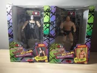 RUMBLE N ROAR WRESTLERS STING AND GOLDBERG TALKING LOT OF 2 WCW/NWO