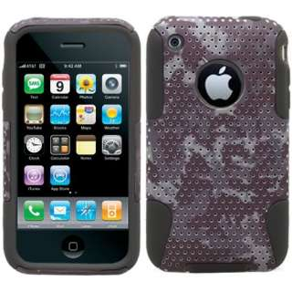 iPhone 3G/3GS Brown Digital Camouflage Hybrid Hard Case Silicone Cover