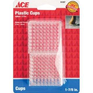 Round Clear Plastic Spiked Caster Cup for Carpeted Floors (Pack of 4