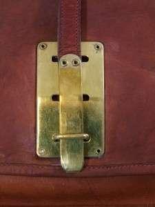 Antique Rare Coach Bonnie Cashin 1960s vintage Red Leather Shoulder