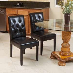 Design Black Leather Dining Room Chairs (Sets of 2, 4, 6, 8, 10, 12