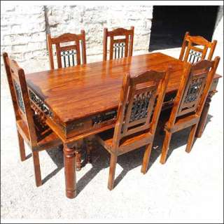 rustic dining room table wooden dining room chairs